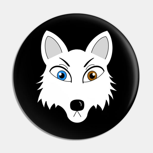 Arctic Fox Head Arctic Fox Pin Teepublic Au