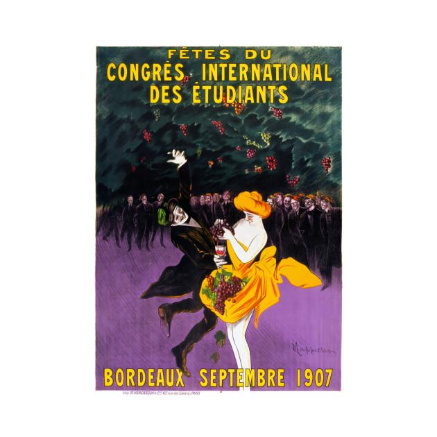 Vintage Travel Poster France Bordeaux Fetes du Congres