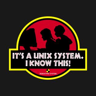 UNIX System Park t-shirts