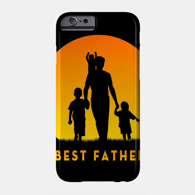 Best Dad Of 3 Kids Cool T Shirt Gift For Fathers Day BEST FATHER Phone Case New
