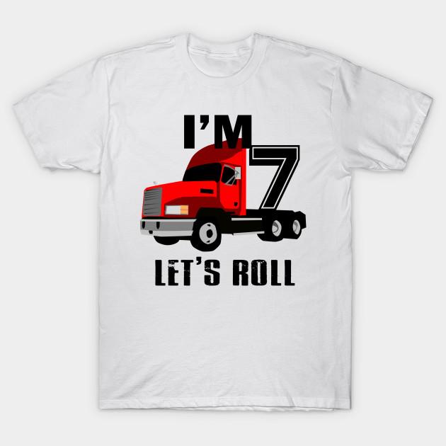 Kids Monster Truck Birthday 7th T Shirt Boy 7 Year Old
