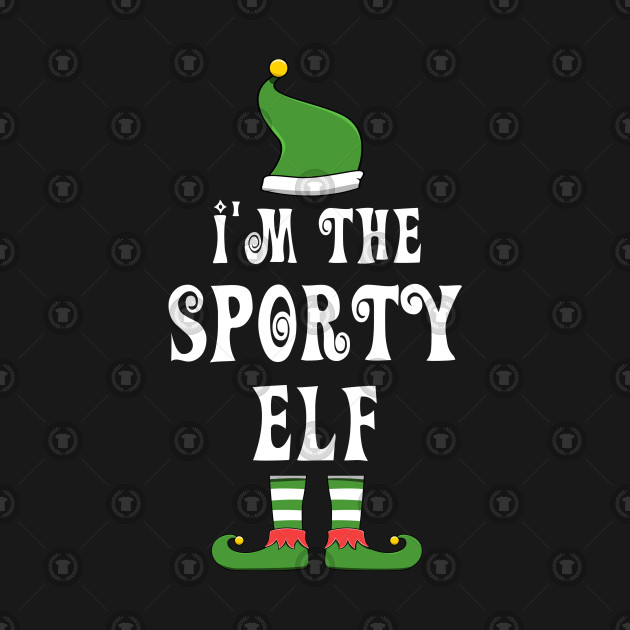 Sporty Elf for Matching Family Christmas Group