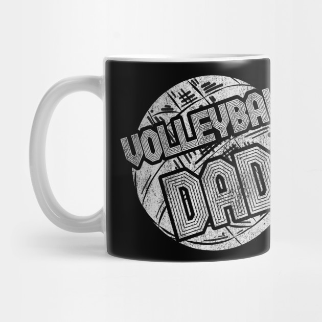 Mens Volleyball Dad Coach Player Father Daddy Father's Day Gift Tee Mug