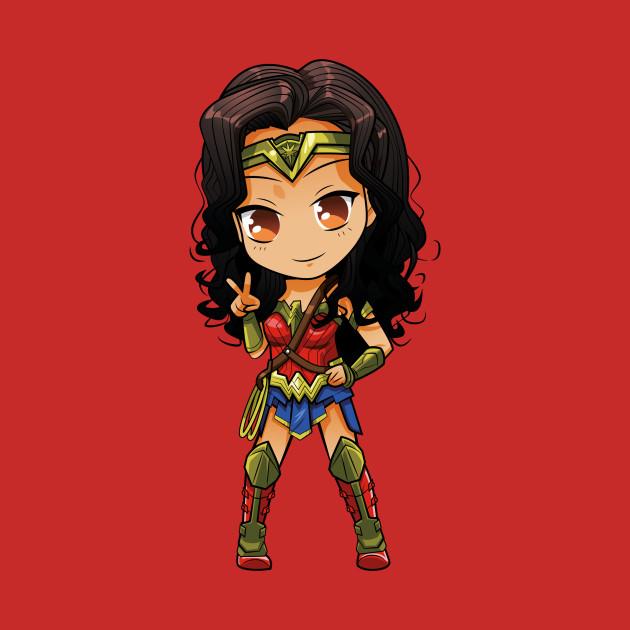 Sweet Chibi Wonder Woman Cosplay - Wonder Woman - T-Shirt ...