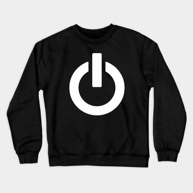 Power On Button Sweatshirt