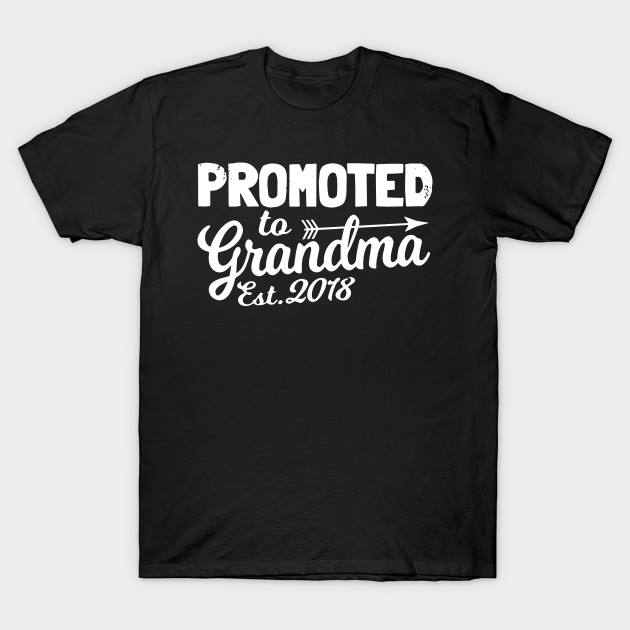 bc0159ac20 Funny New Grandma Shirt Promoted To Grandma Est 2018 Grandma T-Shirts T- Shirt