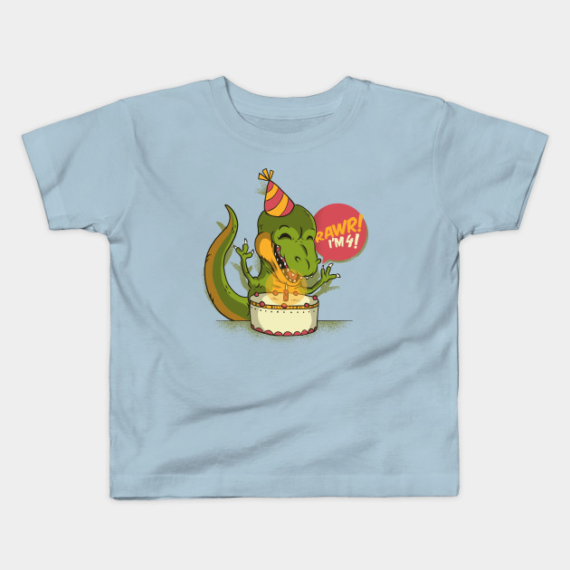 Im 4 Years Dinosaur Birthday Kids T Shirt