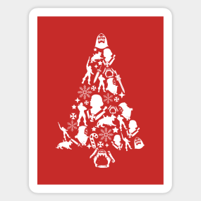 he man christmas tree silhouette sticker - He Man Christmas Sweater