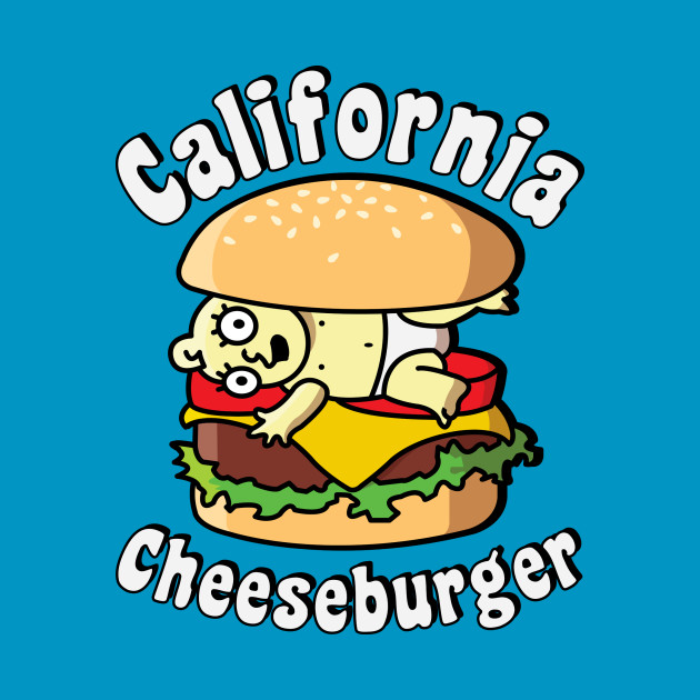 Pocket Tee - California Cheeseburger