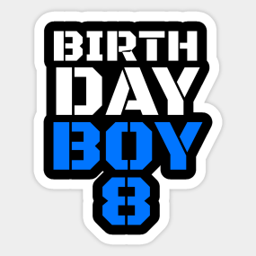 8th Birthday Party Decorations Stickers