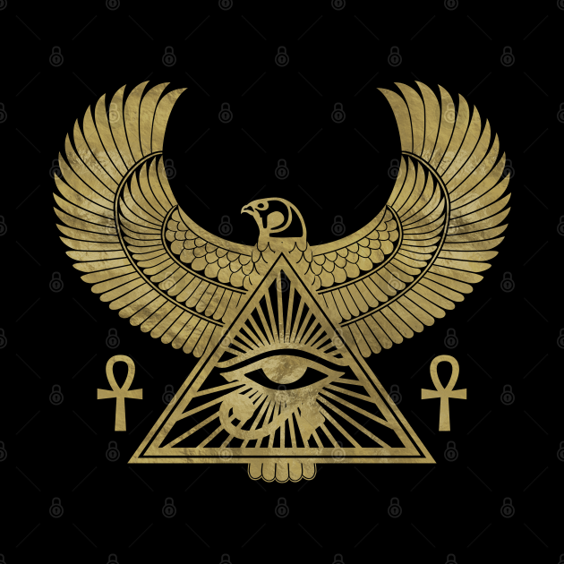 Golden Egyptian Eye of Horus - Wadjet