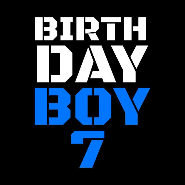 Birthday Boy 7 7th Tee Boys