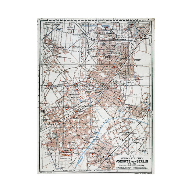 Vintage Map Of The Berlin Germany Suburbs Berlin Germany - Vintage map berlin