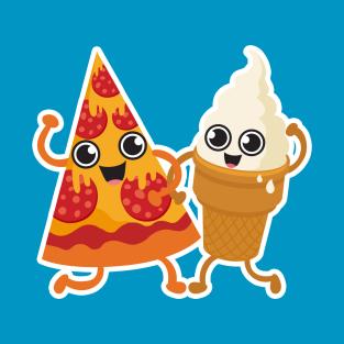Pizza & Ice-cream t-shirts