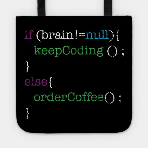 Order Coffee Grunge Programmer Nerd