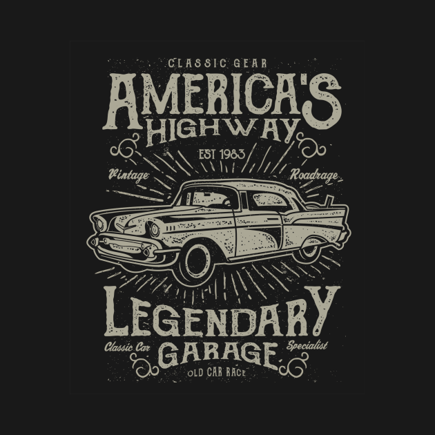 Cars Classic Cars Retro Highway Vintage Distressed Car