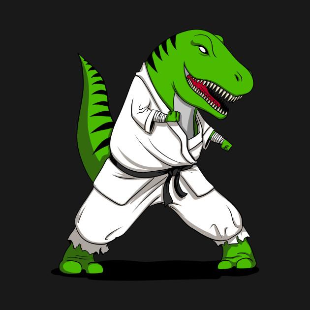 karate t rex dinosaur fighter funny ninja t rex ninja fighter t