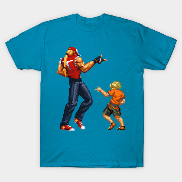 You Got It King Of Fighters T Shirt Teepublic De Terry bogard and young rock howard's win pose from the king of fighters 2001. teepublic