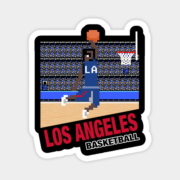 Los Angeles Basketball 8 Bit Pixel Art Cartridge Design