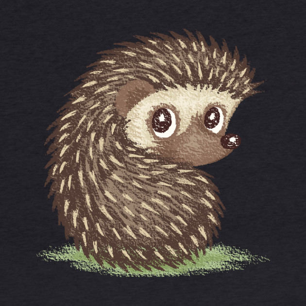 Hedgehog which looks at back