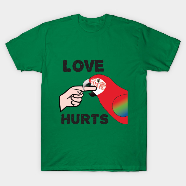 Love Hurts - Greenwing Macaw Parrot