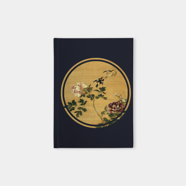 Old Japanese painting of birds and flowers