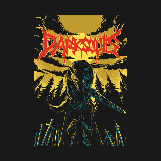 Unofficial Dark Souls Metal Band Tee