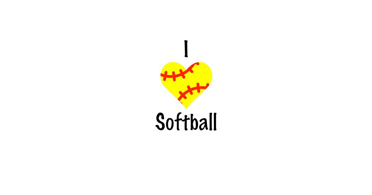 65e3b2fde Cute Softball Design I Love Baseball Gift Ideas - Team - T-Shirt ...