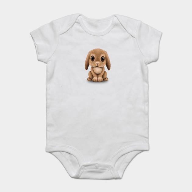 acb272a81 Cute Brown Baby Bunny Rabbit - Bunny - Onesie | TeePublic