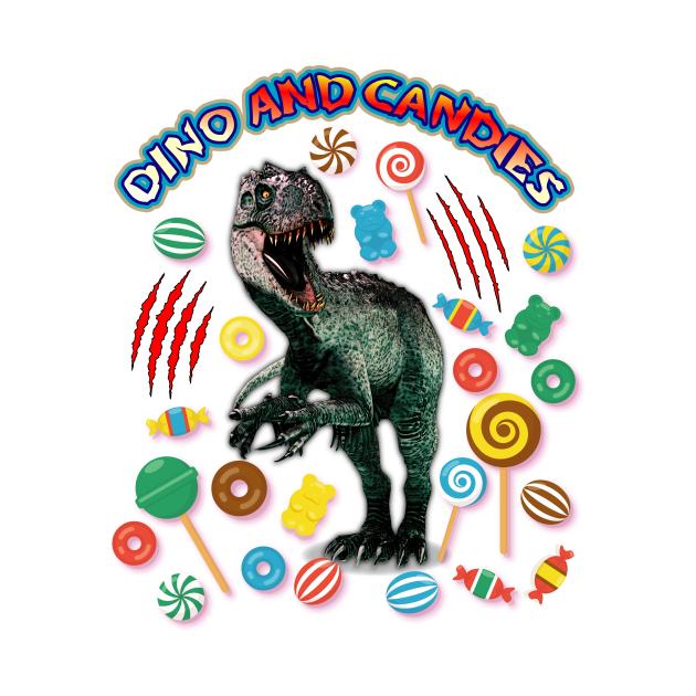 INDOMINUS REX  DINO AND CANDIES