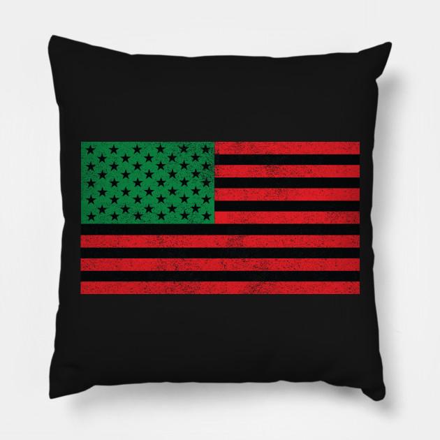 Brand-new African American Flag - American Flag - Pillow | TeePublic KN19