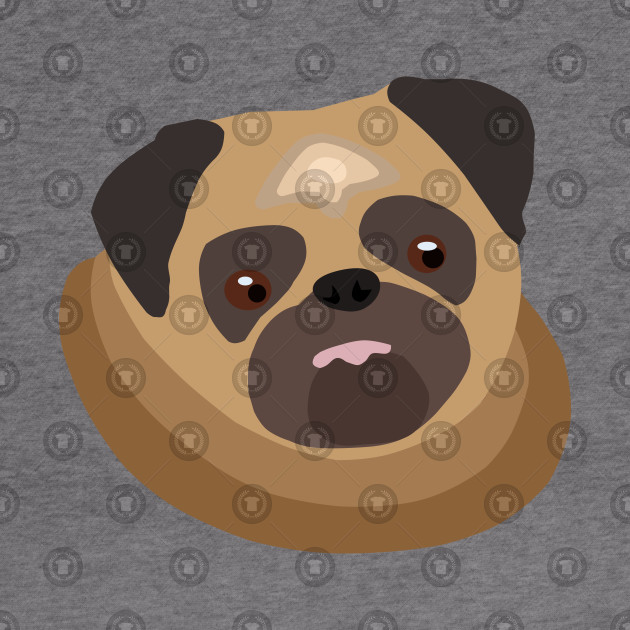 Cute fat pug – drawing of a puppy pug