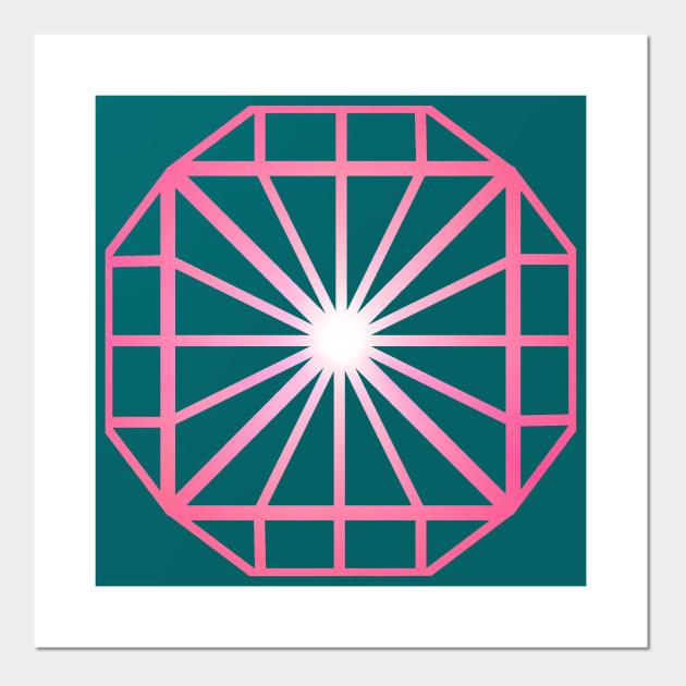 Pink Diamond - Diamond - Wall Art | TeePublic