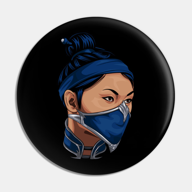 Kitana Mortal Kombat Pin Teepublic Au