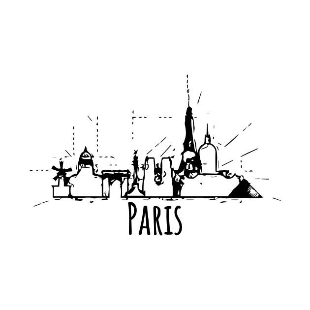 Romantic Paris Skyline Souvenir