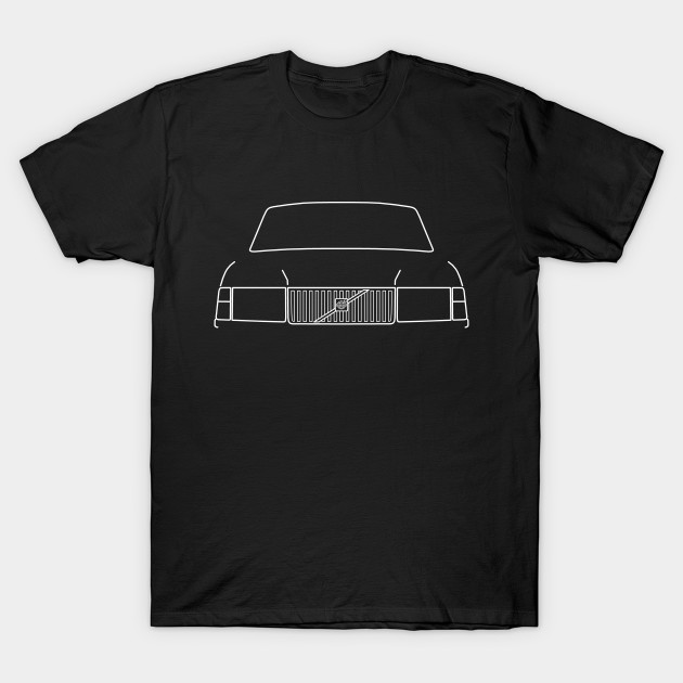 Volvo 240 classic car outline graphic (white) T-Shirt