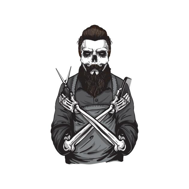 Product Beard Barber Gift Ideas Skeleton Facial T Shirt Teepublic