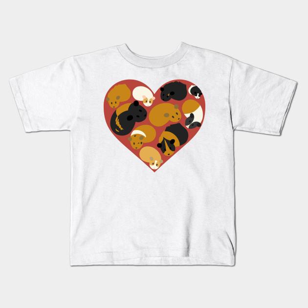 I Love Heart Guinea Pigs Kids T-Shirt