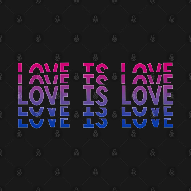 Vintage Retro Love is Love Bisexual Stacked Letters Bi Pride