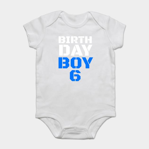 Birthday Boy 6 6th Birthday Tee Boy 6th Birthday Boys 6th