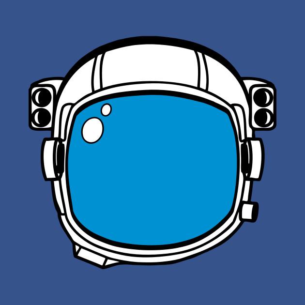 Blue Astronaut Helmet Clipart
