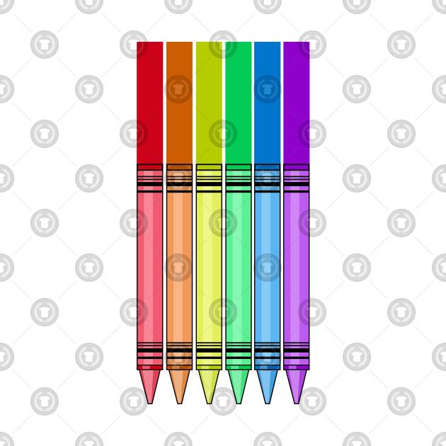 rainbow crayon crayon art t shirt teepublic