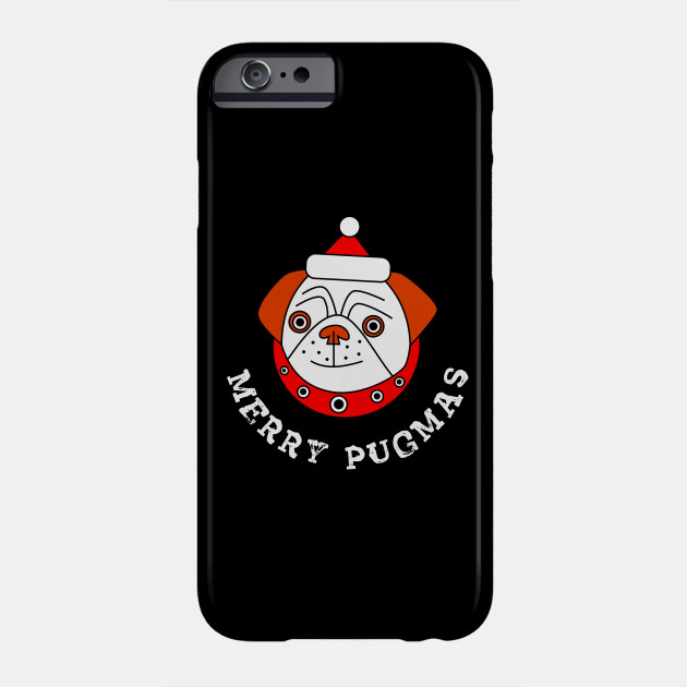 Merry Pugmas Christmas Holiday Party Funny Pug Dog Lover Gift Phone Case