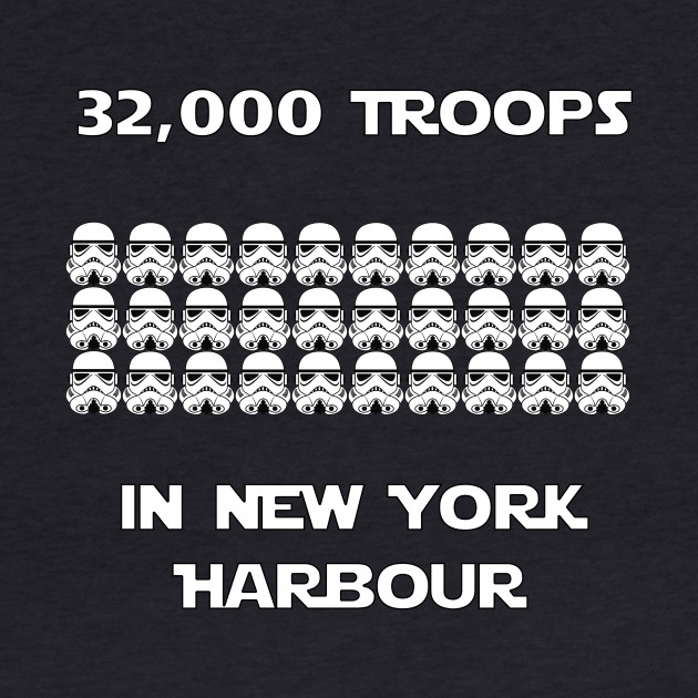 Troops in New York Harbour