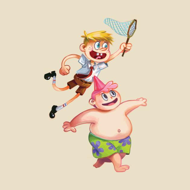 Human Spongebob and Patrick