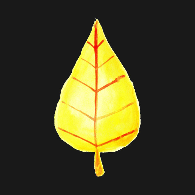 Simple Yellow Leaf Watercolor