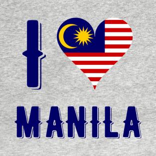 I Love Heart Manila Black Kids Sweatshirt