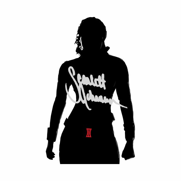 Scarlett Johansson silhouette and signature