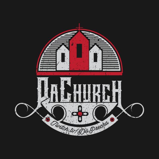 Da Church logo black background