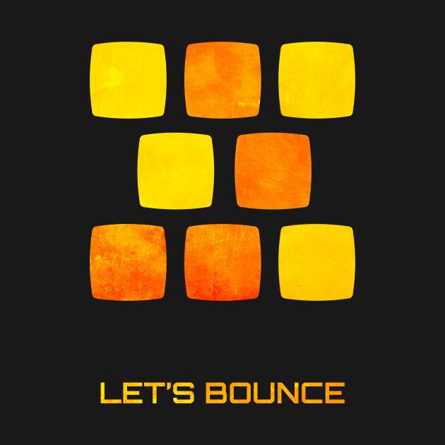 Let's Bounce Grunge Logo
